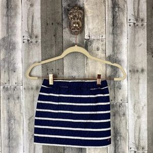 Nautica Navy Striped Quilted Skirt Size 5/6 New!